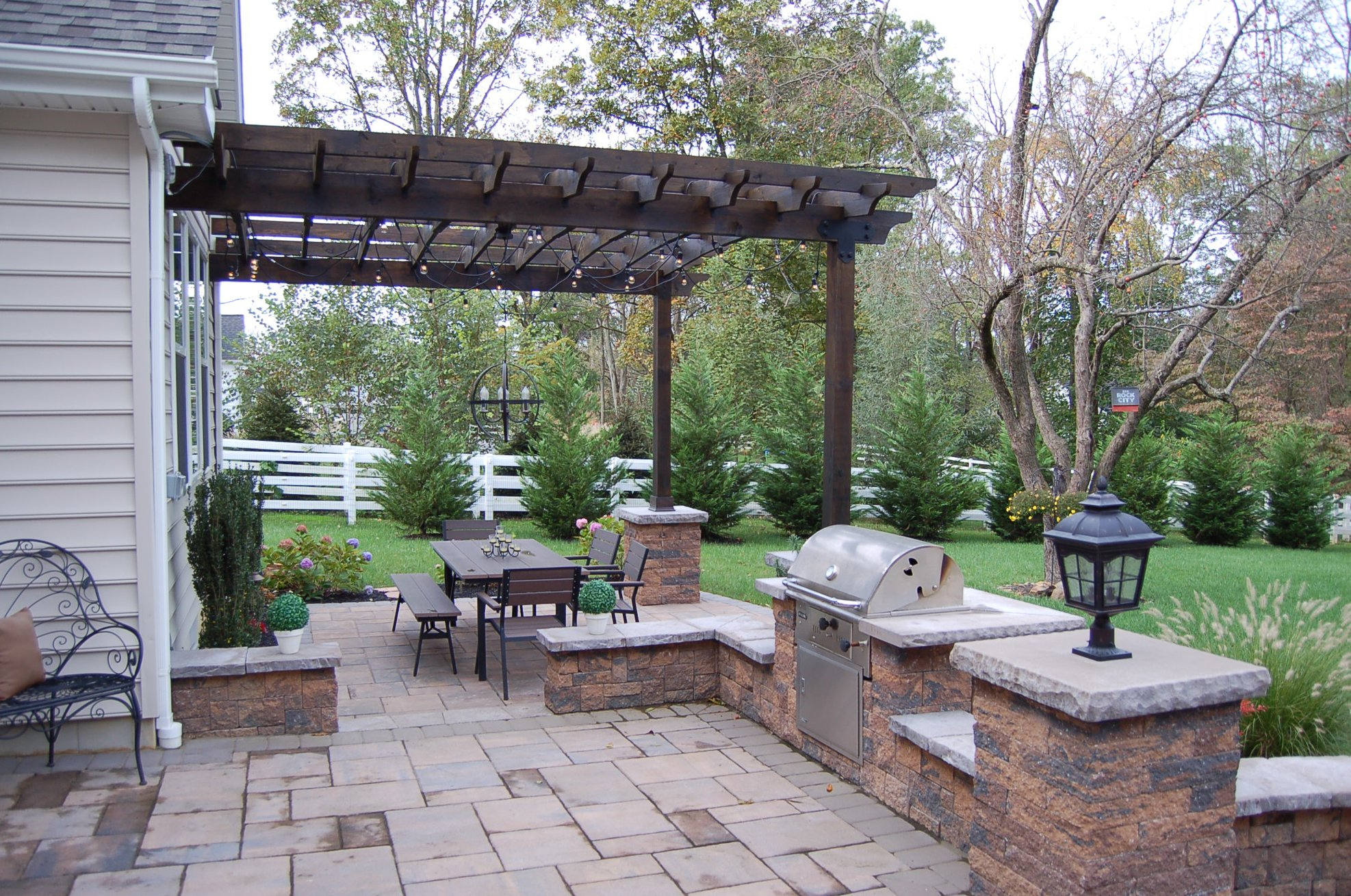 How To Install A Pergola On A Paver Patio - Holiday Hours